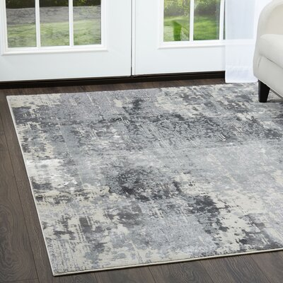 Jersey Gray Area Rug Rug Size: Rectangle 53 x 72
