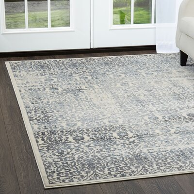 Jersey Ivory Area Rug Rug Size: Rectangle 53 x 72