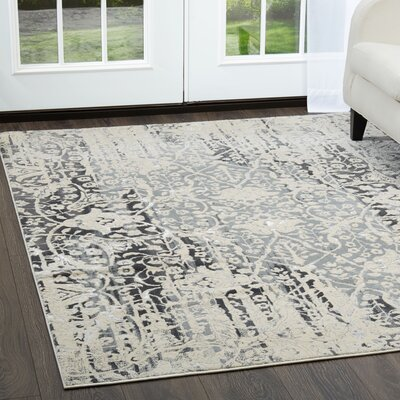 Jersey Medallion Beige Area Rug Rug Size: Rectangle 53 x 72