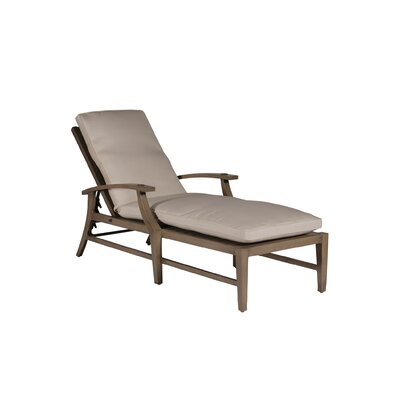 Croquet Chaise Lounge Finish: Weathered