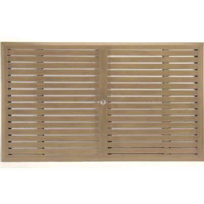 Slatted Rectangle Dining Table Top Finish: French Linen