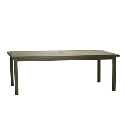 Club Rectangular Dining Table Finish: Weathered