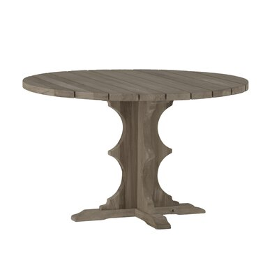 French Teak Round Dining Table Finish: Weathered Teak