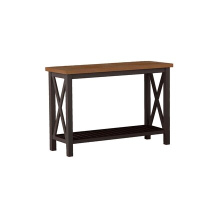 Cahaba Console Table Finish: Mahogany/Natural