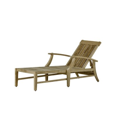 Croquet Teak Chaise Lounge Finish: Natural Teak