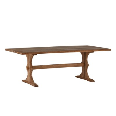 French Teak Rectangle Dininig Table Finish: Natural Teak