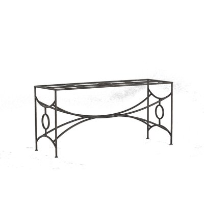 Trestle Iron Dining Table