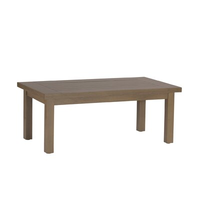 Club Rectangular Coffee Table Finish: Weathered