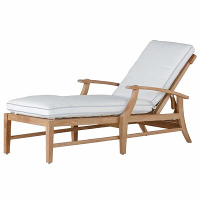 Croquet Teak Chaise Lounge with Cushion
