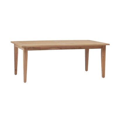 Teak Rectangle Farm Dining Table Finish: Natural Teak