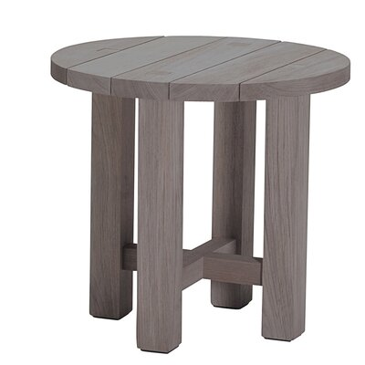 Croquet Teak Side Table Finish: Weathered Teak