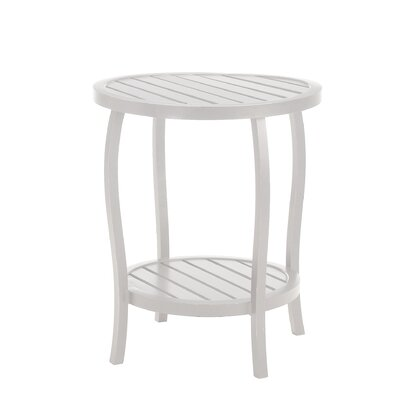 Cottage Round Side Table Finish: French Linen