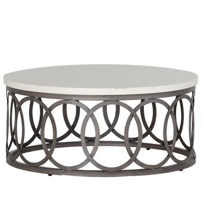 Ella Coffee Table Finish: Charcoal/Travertine
