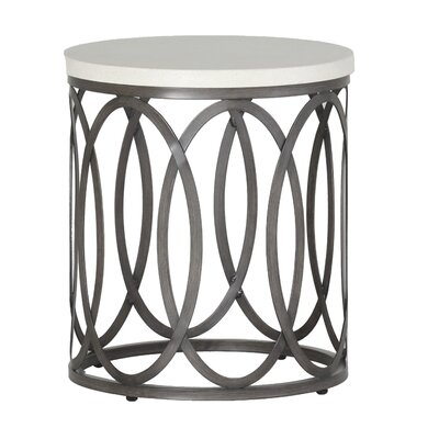 Ella Side Table Finish: Charcoal/Travertine
