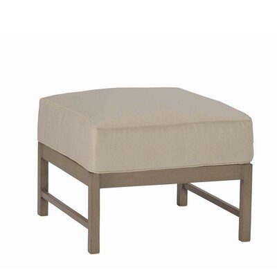 Club Aluminum Ottoman with Cushion