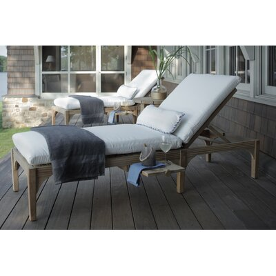 Club Teak Chaise Lounge Finish: Weathered Teak