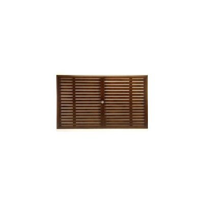 Slatted Rectangle Dining Table Top Finish: Mahogany