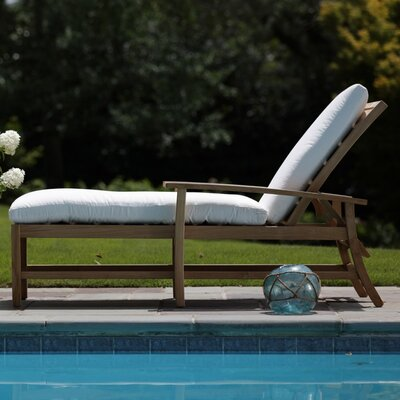 Charleston Teak Chaise Lounge Finish: Natural Teak
