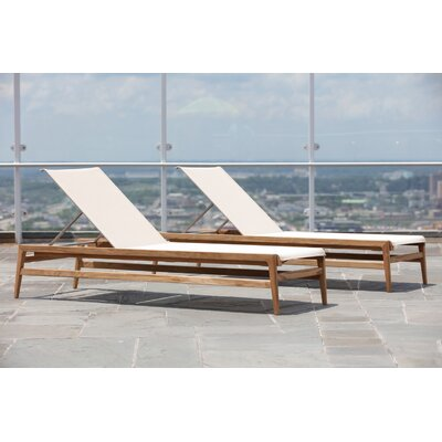 Coast Teak Chaise Lounge