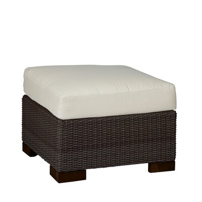 Club Woven Ottoman with Cushion