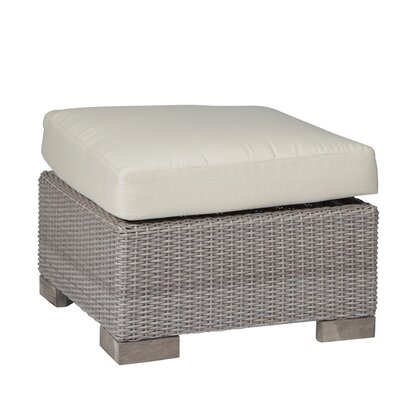 Aqua Ottoman with Cushion