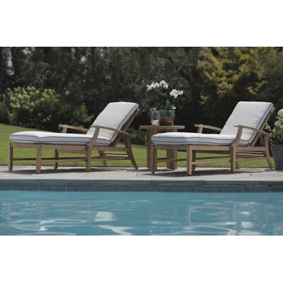 Croquet Outdoor Sunbrella Chaise Lounge Seating Group with Cushion