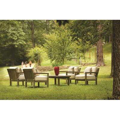 Club Outdoor Sunbrella Lounge Seating Group with Cushion