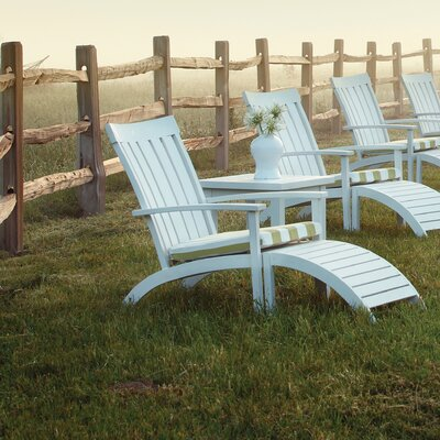 Club Outdoor Sunbrella Adirondack Seating Group with Cushion