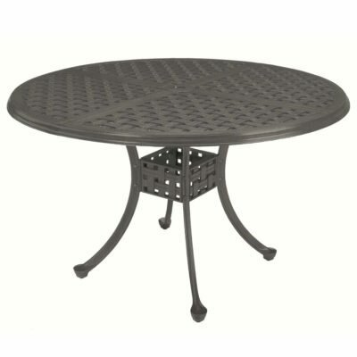 Double Lattice Wrought Aluminum Dining Table