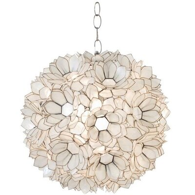 Venus 1-Light Globe Pendant Shade Color: Off White