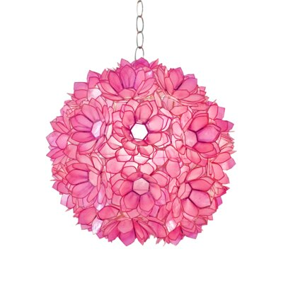 Venus 1-Light Globe Pendant Shade Color: Hot Pink