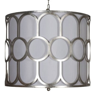 Art Deco Style 3-Light Drum Pendant Finish: Silver