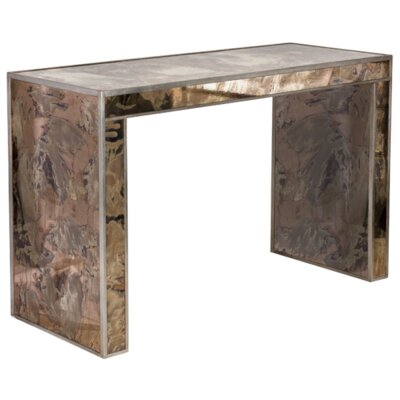 Reverse Console Table Finish: Champagne Silver