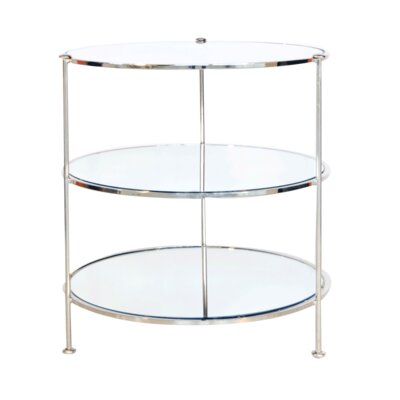 3 Tier End Table Finish: Nickel Plated