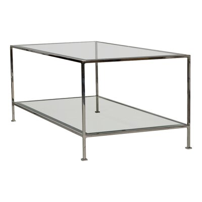 Coffee Table with Magazine Rack Color: Nickel Plated