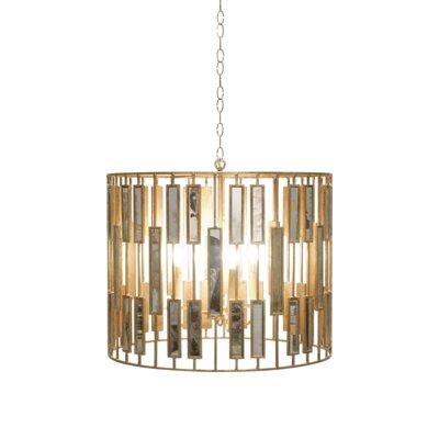 3-Light Drum Pendant Size: 20 H x 25 W x 25 D