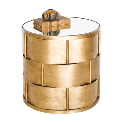 Basketweave End Table Color: Gold