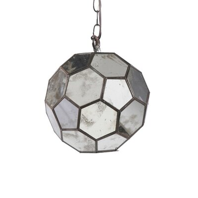 Faceted 1-Light Globe Pendant