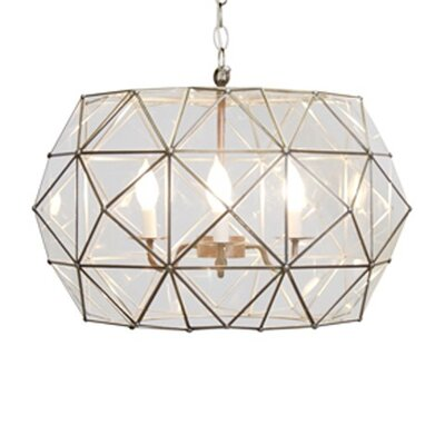 Faceted 3-Light Foyer Pendant