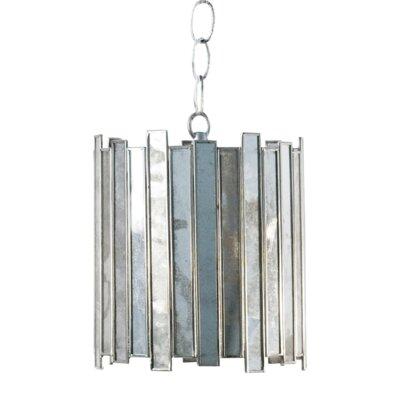 Antique Mirror Faceted 1-Light Mini Pendant