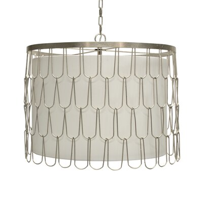 Wire 3-Light Drum Pendant Finish: Silver