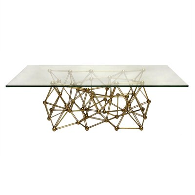 Iron Coffee Table Finish: Gold