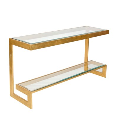 2 Tier Low Console Table Finish: Gold Leaf