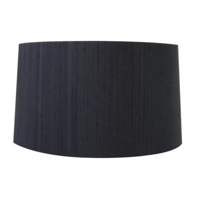 15 Silk Drum Lamp Shade Color: Black