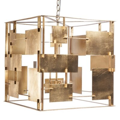 Square 3-Light Foyer Pendant Finish: Gold