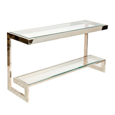 2 Tier Low Console Table Finish: Nickel Plated