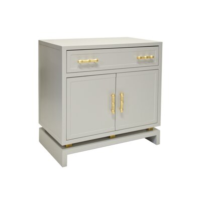 1 Drawer 2 Door Bachelors Chest Finish: Matte Gray Lacuqer