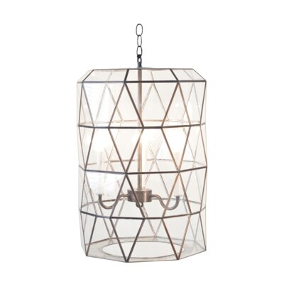 Faceted 3-Light Lantern Pendant Finish: Clear Glass