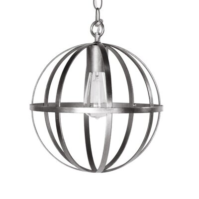 1-Light Globe Pendant Finish: Silver