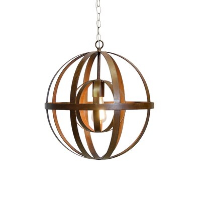 1-Light Globe Pendant Finish: Oxidized